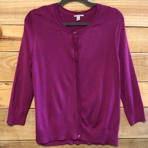 Halogen pink XL lightweight cardigan sweater